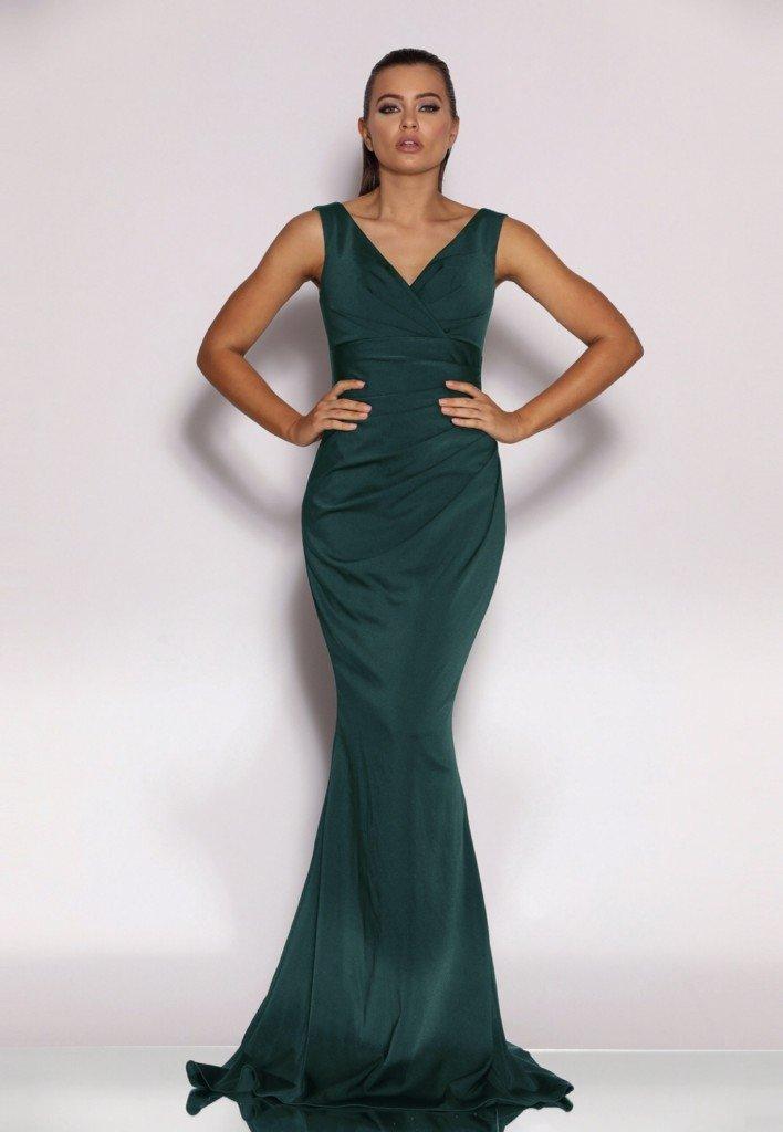 JX2036 Dark Green Jadore Dress